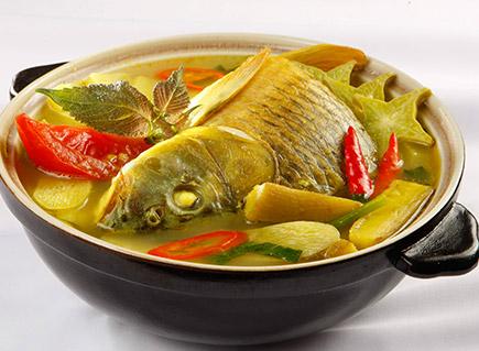 Canh chua cá chép ngon ngọt vô cùng