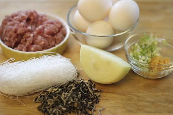 Nguyên liệu cho món chả trứng